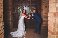 Ringing the chapel bell as Mr. Clark Gardens, Weatherford Tx, Garden Photos, Bridesmaid Dresses, Wedding Dresses, Photo Credit, Photography, Fashion, Bridesmade Dresses
