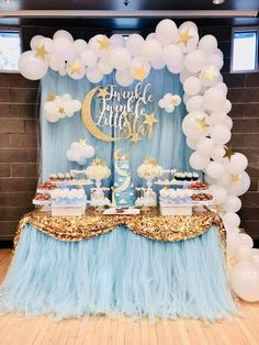 Twinkle Twinkle Little Star Baby Shower Decorations Party City.Blue Twinkle Twinkle Little Star Gender Reveal Baby Shower . Idee Baby Shower, Baby Shower Table, Shower Party, Baby Shower Parties, Baby Shower Gifts, Baby Party, Girl Shower, Baby Shower Boys, Baby Shower Lunch