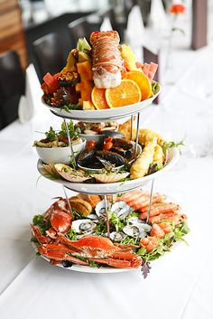 Dock 31 Seafood & Steak - 3 tier seafood platter