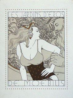Les Jardins d'Eros (Portfolio) (Limited Edition Prints) (Signed) art by Moebius (Jean Giraud) Archive