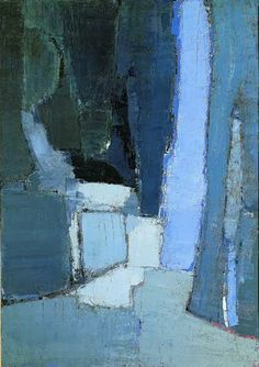 *abstract painting, art, blue* - Nicolas de Staël / Le parc de sceaux