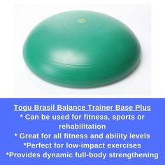 Togu Brasil Balance Plus is perfect for dynamic full-body training by combining the advantages of a balance trainer and therapy disk in one great piece of exercise equipment. Lower Back Fat, Lower Abs, Full Body Training, Strength Training, Lose Tummy Fat, Balance Trainer, Balance Board, Workout Warm Up, Low Impact Workout