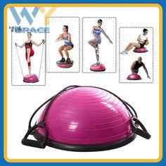 Bodybuilding 58cm PVC bosu ball balance trainer Half Gym Ball