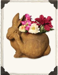 Scratching Rabbit Planter from Victorian Trading Co.