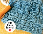 Loom Knitting Stitch PATTERNs The Double Basket Stitch with Video Tutorial