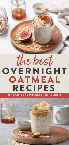 The Best Overnight Oatmeal Recipes | Meal Prep for Beginners - Looking for some healthy breakfast ideas that are quick and easy? If you are wondering how to make overnight oats, this easy tutorial is for you! You will find a step by step guide with photos showing exactly how to make a jar of healthy oatmeal. BONUS: I've also included all of my favorite overnight oats recipes for you to try! Organize Yourself Skinny | Oatmeal Breakfast | Fall Recipes #healthyeating #breakfast #mealprep