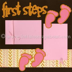 for baby scrapbook but use Her own footprints scrapbook layouts, babi book, scrapbooks, babi scrapbook, baby firsts scrapbook, baby book scrapbooking, baby scrapbooking, scrapbook idea, scrap book