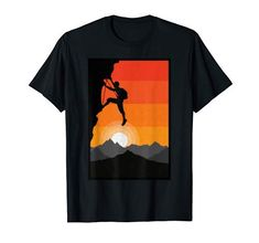 Vintage Rock, Retro Vintage, Ferrari Logo, Rock Climbing, Sunset, Amazon, Logos, T Shirt, Art