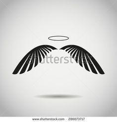 Angel Black White Wings Stockfotos und -bilder | Shutterstock