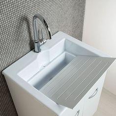 Vasca lavatoio 60x60 con strofinatoio in ceramica incorporato ...
