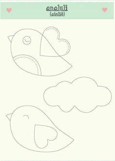bird templates to make just like cardboard pony craft