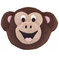 Go Bananas Cake - Any birthday boy or girl will Go Bananas for this cake! The smiling monkey is covered with stars made with vanilla and chocolate flavored icing for two taste treats in one.