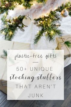 Want to overstuff those stockings, but don't want to stuff them with junk? Here are over 50 minimalist + low-plastic stocking stuffers for dads, moms + kids.