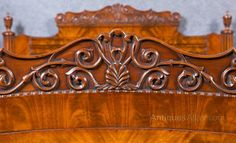 ~ Double Mahogany Sleigh Bed ~ antiques-atlas.com