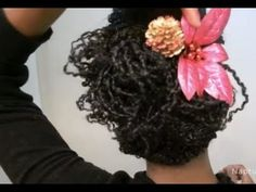 """Simple Holiday Hairstyle on Mini Twists """"Natural Hair"""" (+playlist)"""