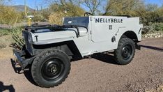 The Nellybelle II Jeep from the Roy Rogers Show is up for grabs! Jeep Cj, Jeep Wrangler, Jeep Names, Auto Test, Smart Robot, Best Barns, Opening Credits, Roy Rogers, Fancy Cars