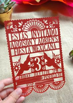 Trendy ideas for birthday dinner party invitations mexican fiesta Mexican Invitations, Quince Invitations, Dinner Party Invitations, Invitation Birthday, Invites, Invitation Ideas, Wedding Invitations, Mexican Fiesta Birthday Party, Fiesta Theme Party