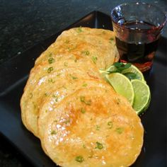 Thai Coconut Pancakes with Lime and Maple Syrup