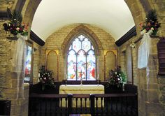 St Giles, Ludford, wedding in June 2012 - chancel and sanctuary.