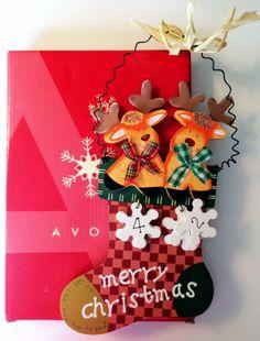 "Avon days till Christmas Decorative Accent Wood 9"" Plaque Holiday Decoration NIB #Avon"