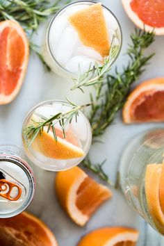 """Summer should be all about refreshing sparkling seltzer drinks like this White Claw Ruby Grapefruit Hard Seltzer, Prosecco and fresh rosemary. If I had to choose a """"hammock drink"""". Cocktail Drinks, Fun Drinks, Yummy Drinks, Healthy Drinks, Cocktail Recipes, Alcoholic Drinks, Healthy Eating, Cocktails, Drink Recipes"""