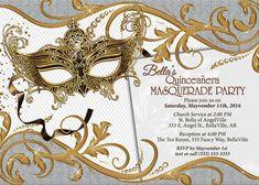 Masquerade Party Custom Designed by BrooklynDesignStudio on Etsy