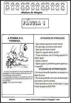 TRABALHANDO COM FÁBULAS EM SALA DE AULA, INTERPRETAÇÕES, IMPRIMIR-Mistura de…