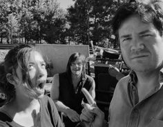 Norman Reedus, Christian Serratos and Josh McDermitt behind the scenes of The Walking Dead