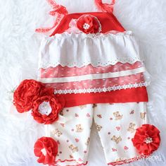 Red Sitters Set, Baby Props, Baby Photography,6-9m, Red Props,Sitter Rompers,Pants,Valentines, Baby Girl Props,Red Top,Sitters,Flower Crowns by ZorayaBabyProps on Etsy