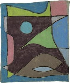 Paul Klee  'Maske Unterwasserfuhrer' (Mask for Underwater Guide [my own attempt at translation g.s.]) 1934  Pastel on linen mounted on paper  17 x 14.75""