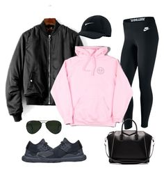 Simple, cosy and beautiful : Black et baby pink sportwear. by tann509 on Polyvore featuring polyvore, moda, style, NIKE, Y-3, Givenchy, Ray-Ban, fashion and clothing #polyvoreeditorial #polyvore #nike #sportystyle #sporty #sport #wear #chic #cosy #simple #pastel #baby #pink #all #black