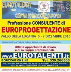 Master europrogettazione a #Salerno #Vallo della Lucania 5-7 DICEMBRE