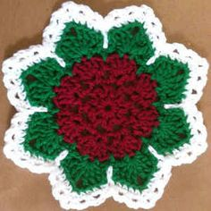 Flat Rose Dishcloth: free #crochet pattern