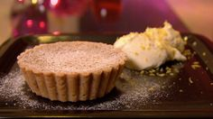 sweet filled gypsy tart is topped with zesty mascarpone cheese, from Baking Mad with Eric Lanlard