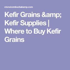 Kefir Grains & Kefir Supplies   Where to Buy Kefir Grains