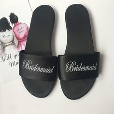 1pairs Personalized Satin Spa Slippers Anniversary Birthday Wedding Hen Night Bachelorette Party Bride Bridesamaid gift-in Party Favors from Home & Garden on Aliexpress.com | Alibaba Group Wedding Slippers, Cheap Party Favors, Spa Slippers, Hens Night, Child Day, On Your Wedding Day, Alibaba Group, Wedding Engagement, Anniversary