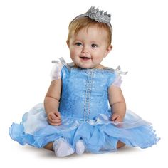 Introduce your little character to a few of ours. Your little one will feel like a princess in this Cinderella Prestige Infant dress. The royal costume feaures glitter print, tutu skirting and her very own princess crown. Snap bottom for easy diaper change!