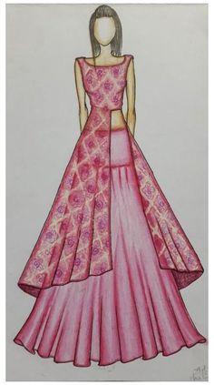 Dress Design Drawing, Dress Design Sketches, Fashion Design Sketchbook, Dress Drawing, Fashion Design Drawings, Fashion Sketches, Fashion Drawing Dresses, Fashion Illustration Dresses, Fashion Dresses