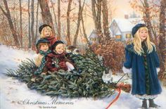 by Robert Duncan Old Fashion Christmas Tree, Christmas Scenes, Christmas Quotes, Christmas Pictures, Robert Duncan, Merry Christmas To You, Vintage Christmas Cards, Little Christmas, Christmas And New Year
