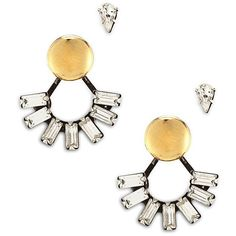 Dannijo Zoey Mix and Match Ear Jacket Set ($205) ❤ liked on Polyvore featuring jewelry, earrings, gold, teardrop earrings, dannijo jewelry, baguette earrings, post earrings and golden earring