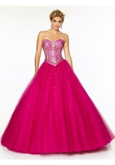 2015 Style Ball Gown Sweetheart Floor-length Tulle Prom Dresses/Evening Dresses #QA106