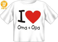 Baby Fun T-Shirt bedruckt mit Kids Motiv / I love Oma + Opa ! 80/86 - T-Shirts mit Spruch | Lustige und coole T-Shirts | Funny T-Shirts (*Partner-Link)
