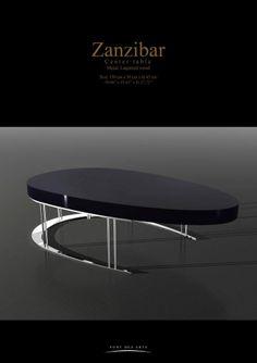 ZANZIBAR  Center table - Pont des Arts  _ Designer Monzer Hammoud - Paris-