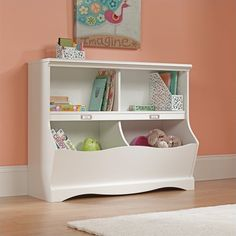 Lowest price online on all Bookcase Footboard in Soft White Finish - 414436