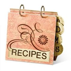 Gather your families recipes that you have collected over the years and place them all together in this recipe book