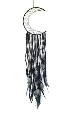 Black Dreamcatcher  Crescent Moon by Kishayasdreamcatcher on Etsy