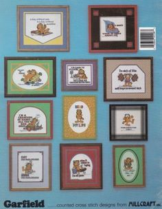 Garfield-at-His-Worst-Best-Millcraft-Inc-Cross-Stitch-Pattern-Booklet-GCSB-8