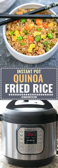 Instant Pot Quinoa Fried Rice makes a simple and healthy alternative to traditional fried rice. Full of protein and vegetables and just perfect for busy weeknights. Best of all, instructions included to make it in your Instant Pot pressure cooker or on the stove!