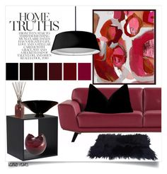"""Burgundy Elements at Home"" by heather-reaves ❤ liked on Polyvore featuring interior, interiors, interior design, home, home decor, interior decorating, Wendover Art Group, Dainolite, Pier 1 Imports and Murano"