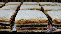 Tajemstvím koláčků našich babiček byla hlavně láska, se kterou koláče připravovali. Tradiční recept na oříškově makové řezy. Autor: Petra H.